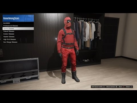 Grand Theft Auto 5 Online Deadpool Outfit tutorial - YouTube