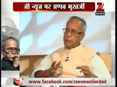 Pranab Mukherjee's Exclusive interview before entering Rashtrapati Bhavan with Zee News Editor