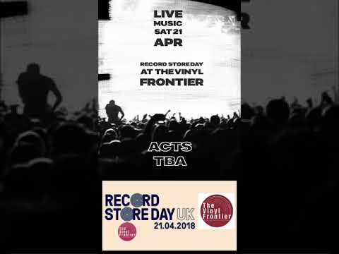 Record Store Day Sat 21 April LIVE Music at The Vinyl Frontier