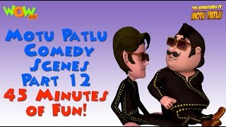 Motu Patlu comedy scenes Part 12 - Motu Patlu Compilation - 45 Minutes of Fun!