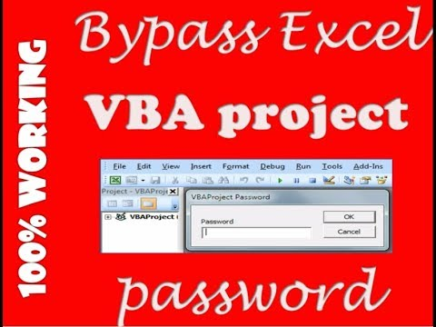 recover excel vba project password