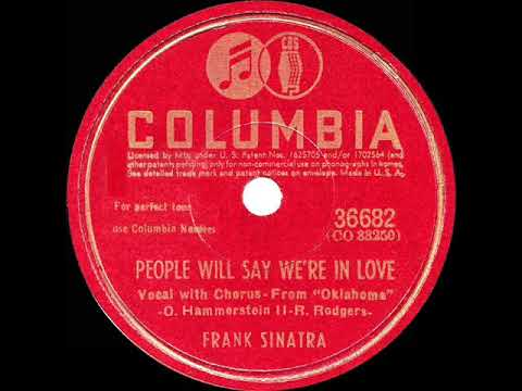 1943 HITS ARCHIVE: People Will Say We're In Love - Frank Sinatra (a cappella) mp3