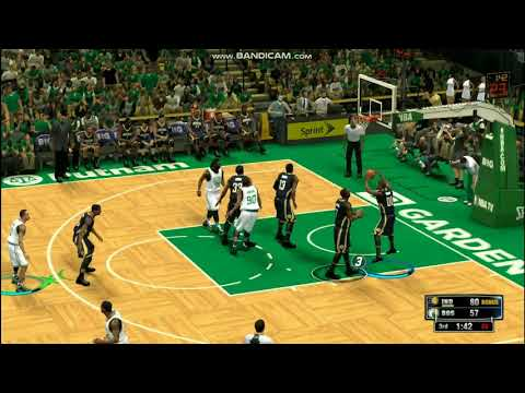 Paul George cross over move and reverse dunk