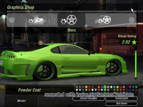 Need For Speed underground2 toyota supra tuning - YouTube