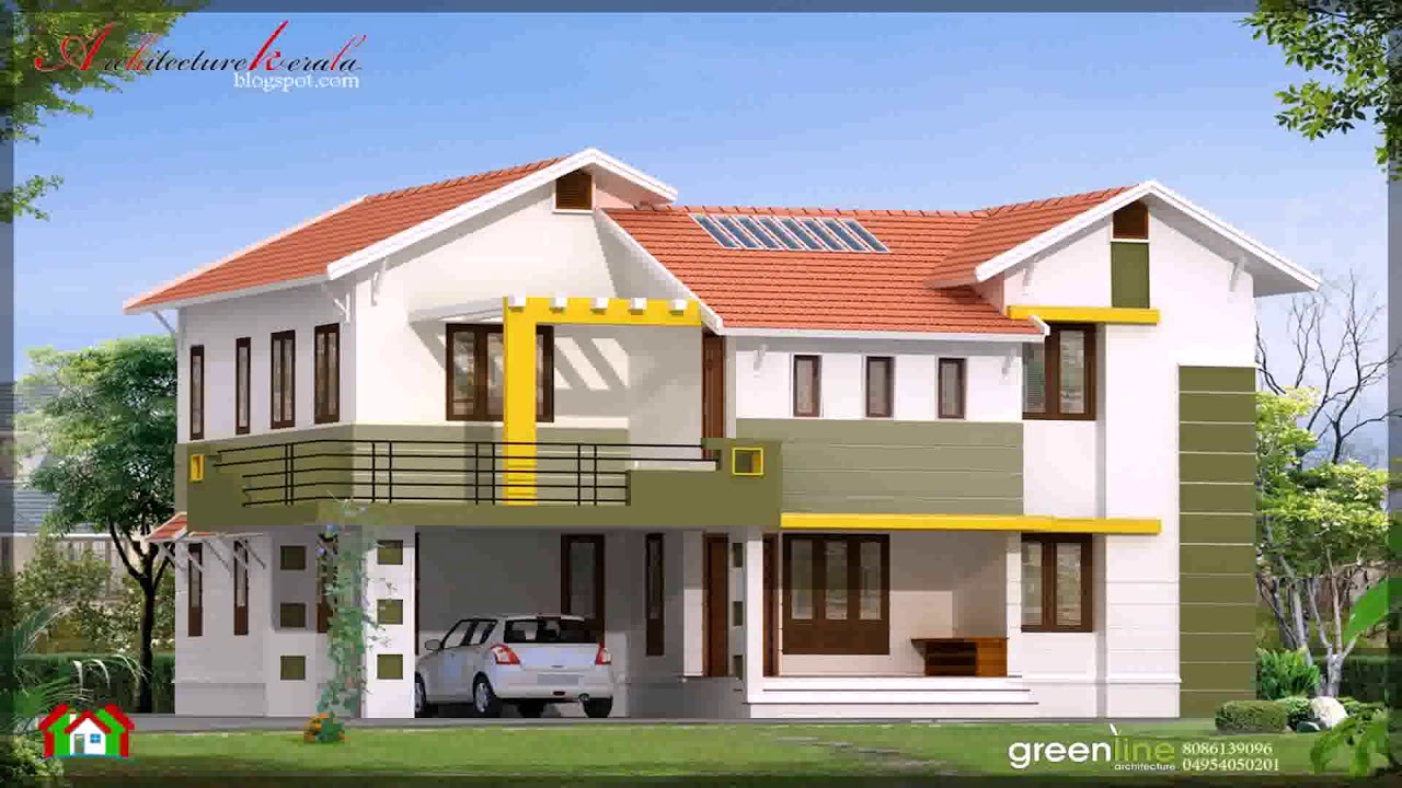 South Indian Small House Front Elevation Designs - YouTube