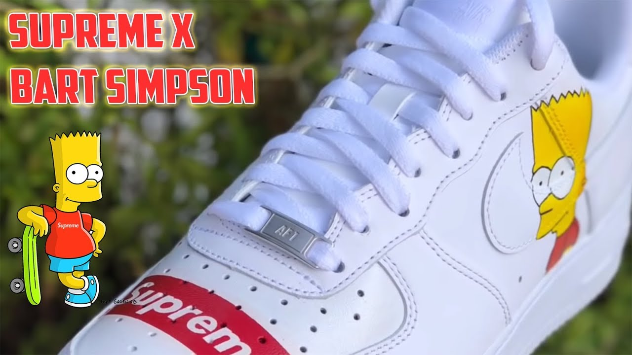 quality design fd622 93317 SUPREME x BART SIMPSON AIR FORCE 1 s - (Full Tutorial)