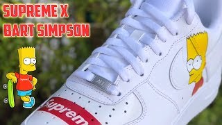 SUPREME x BART SIMPSON AIR FORCE 1's - (very old video)