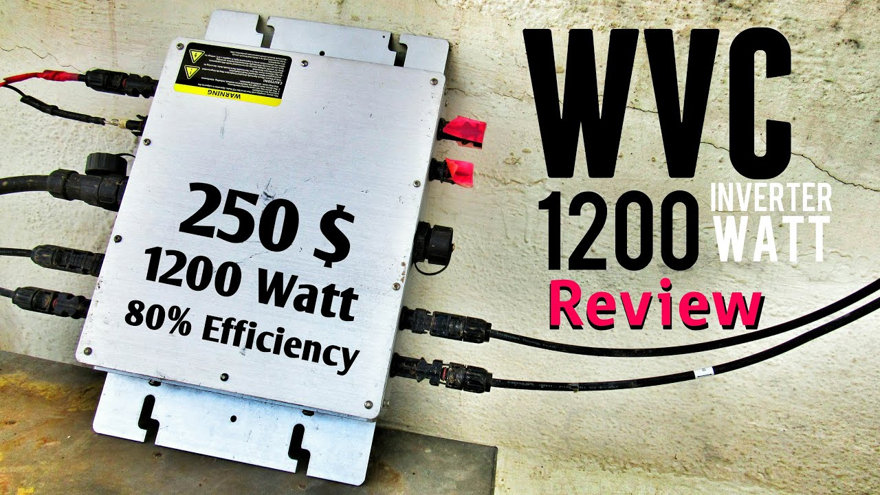 wvc 1200 watt micro grid tie inverter in depth review. Black Bedroom Furniture Sets. Home Design Ideas
