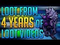 Runescape - Loot From 4 Years of Loot Videos!
