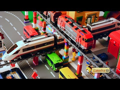 Lego City High Speed Passenger Train Story   60051 and 60098 train crash   Preschool   Kindergarten
