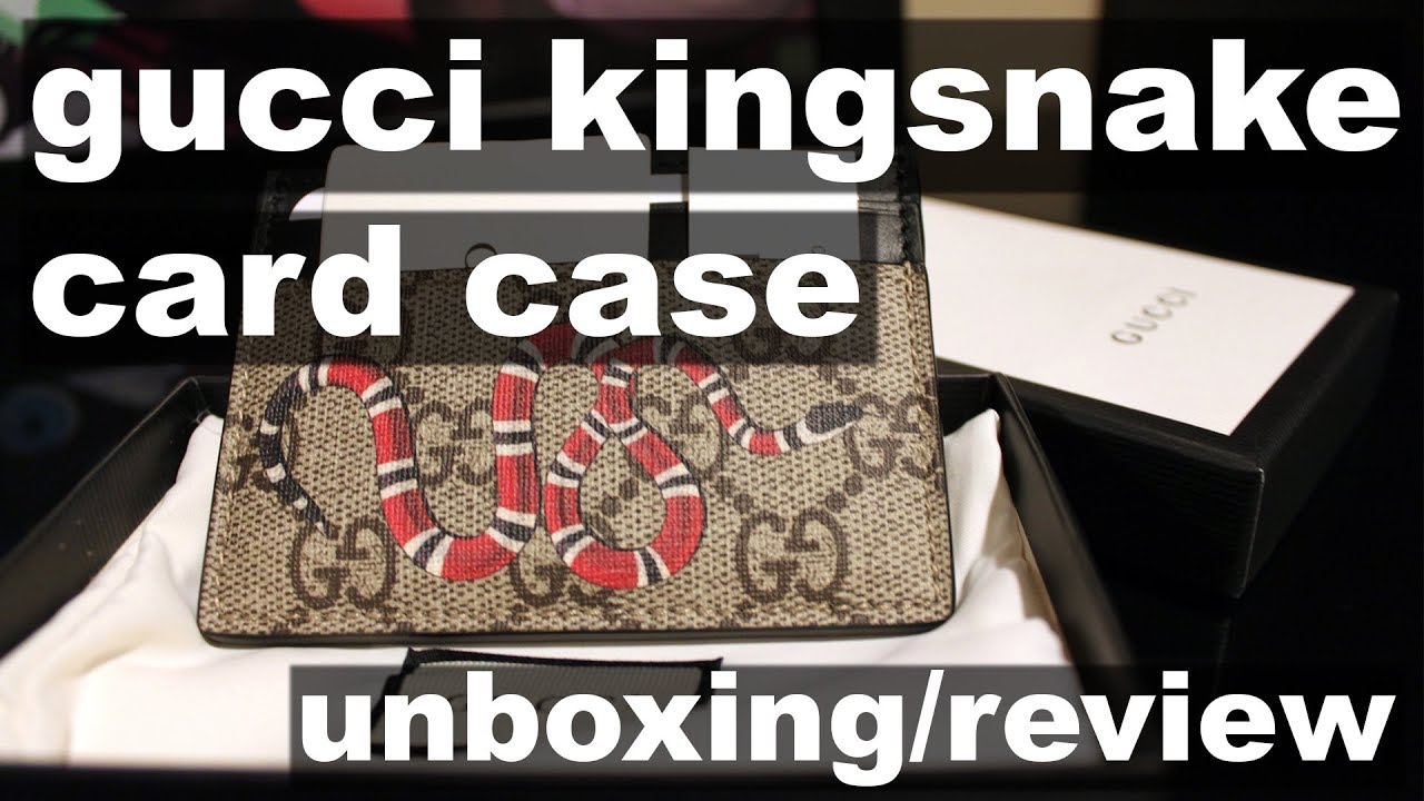 ee4b70d0c310 Gucci Kingsnake Print Card Case Unboxing/Review - YouTube