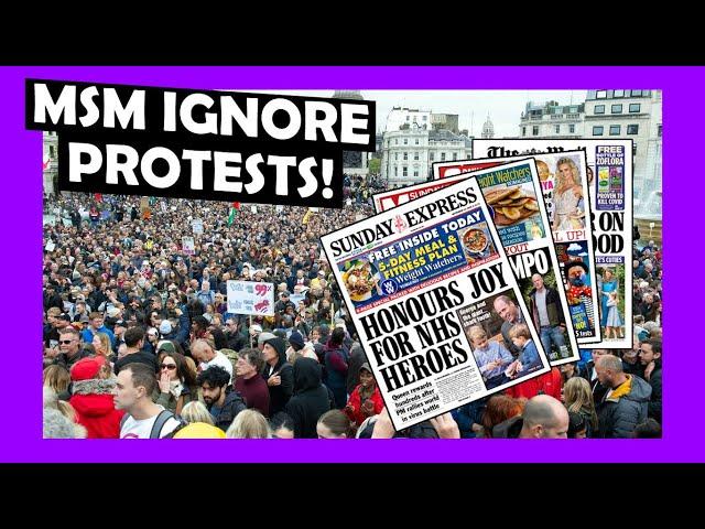 MSM Totally IGNORE Trafalgar Square Crowds #london #lockdown