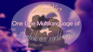 Aladdin - A Whole New World「One-Line Multilanguage」
