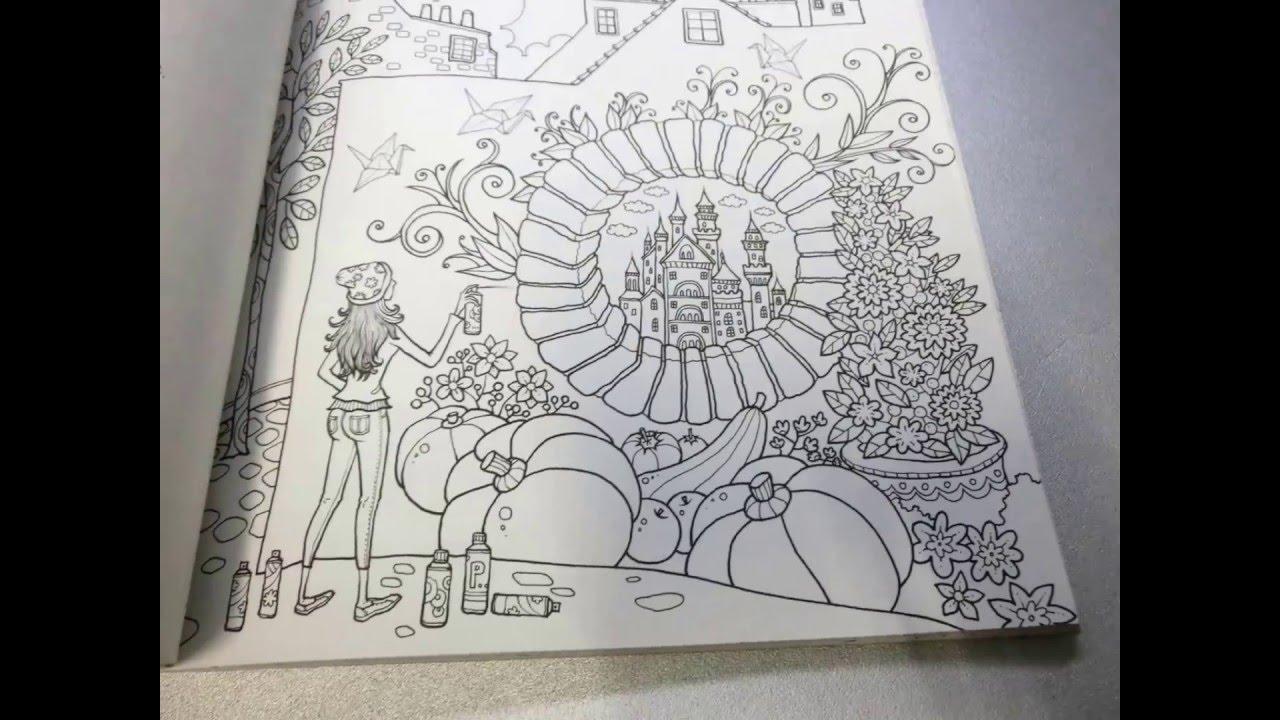 Coloring book Flip Through -Fantasy Travel - YouTube