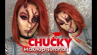 Female CHUCKY Halloween Makeup Tutorial + Ali Julia Hair