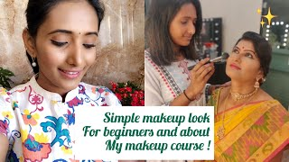 Simple And Natural Makeup For Beginners / About My Makeup Course / poojitha reddy