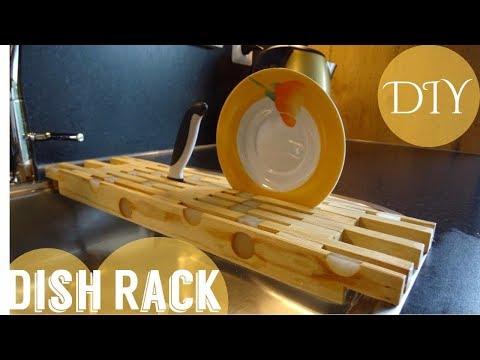 Simple DIY Dish Rack + Free PLAN
