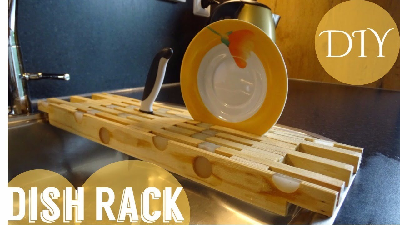 Under cabinet plate rack plans free - Simple Diy Dish Rack Free Plan