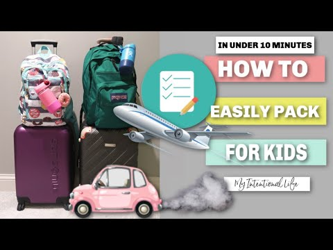 TRAVEL TIPS | PACKING FOR KIDS | CARRY ON | My Intentional Life