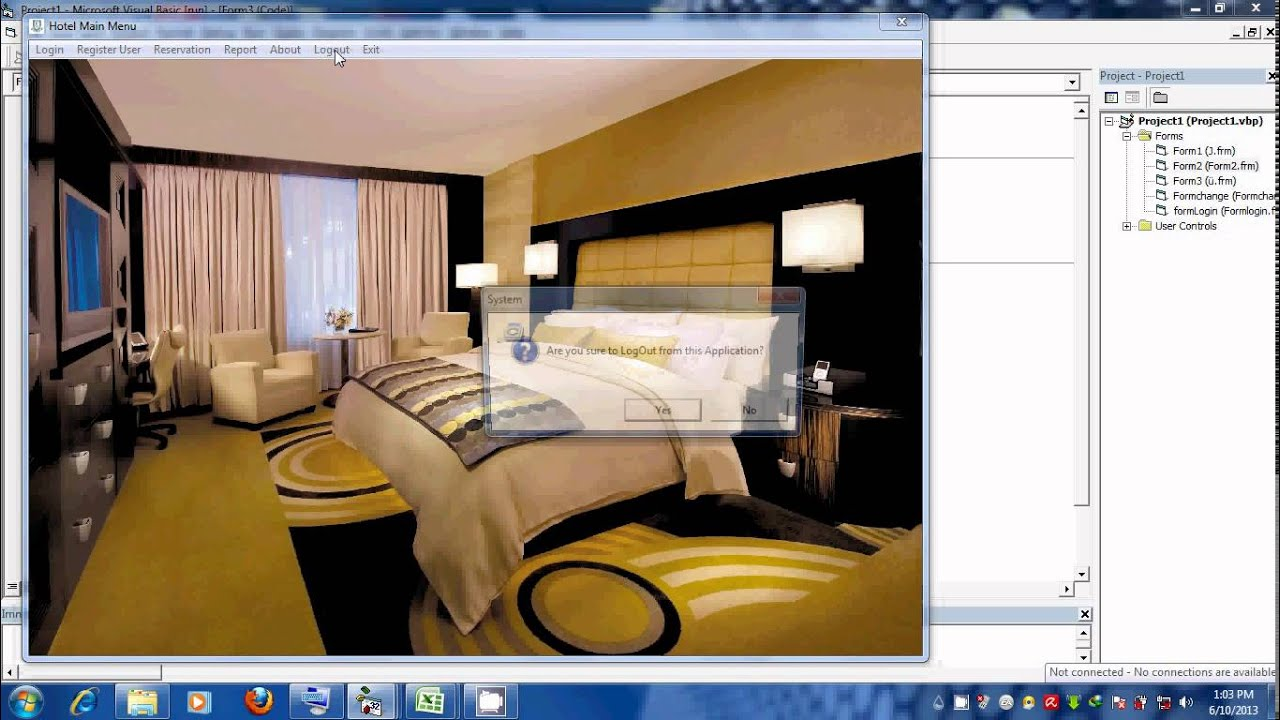 Hotel reservation system using visual basic 6 youtube for The hotel reservation