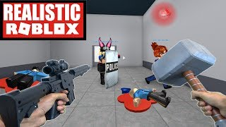 REALISTIC ROBLOX - ESCAPING ROBLOX PRISON IN REAL LIFE! ROBLOX IRL Animation PRISON ESCAPE! Roblox I