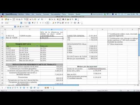 Ejercicio Calculo Tipo IRPF 2014 - Porcentaje Retención IRPF Nomina