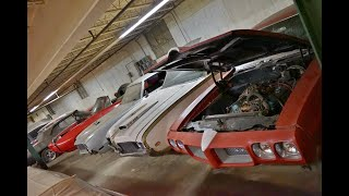 Rare GM Muscle Cars stashed in Old Furniture Factory Basement!