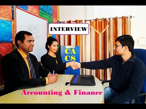 Accounts, Accounting, Finance Jobs Interview | Chartered Acc