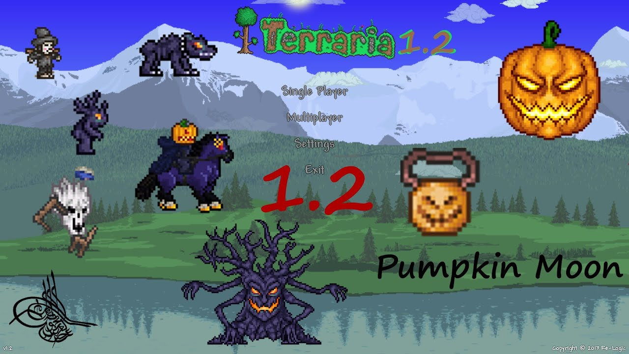 trivia terraria 1.2 [german] [hd+] pumpkin moon - halloween event