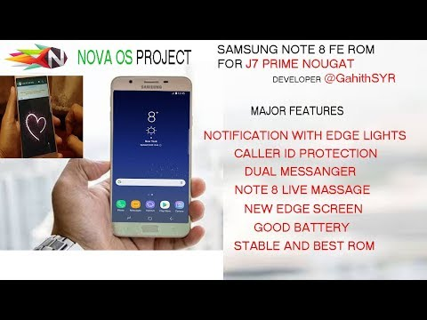 Samsung Note8 Rom For J7 Prime nougat(nova OS) bixby - YouTube