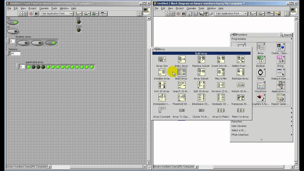 labview fpga boolean datatype operations vi block diagram [ 1280 x 740 Pixel ]