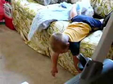 Baby T Falling Off Couch YouTube