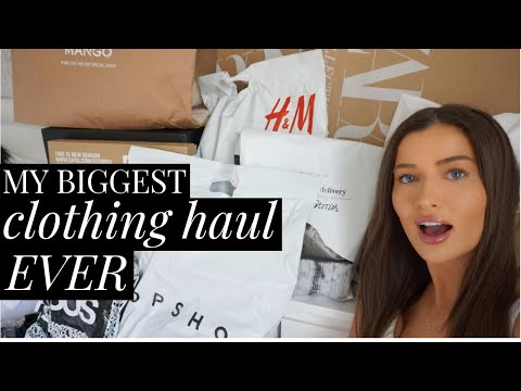 MY BIGGEST CLOTHING HAUL EVER - HUGE SPRING/SUMMER 2019 TRY ON | aliceoliviac