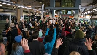 Black Lives Matter protest moves from mall to airport