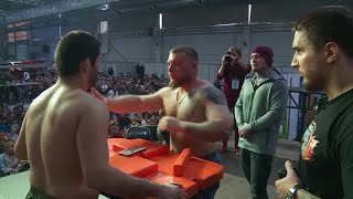 Strongmen in Russia compete to win first prize in the annual Slap Championships