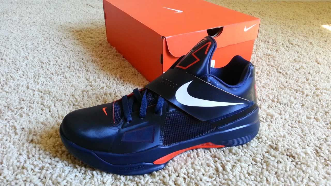 3c8679d75148 Nike Zoom KD IV Midnight Navy   White-Team Orange - YouTube