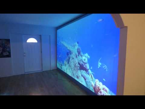 "MY MONSTER BORDERLESS PROJECTION SCREEN 180"" 16:9 IMMERSE 4K CINEMA 90% DONE!"
