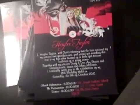 hqdefault red phantom of the opera quinceanera photo invitations sweet 16,Phantom Of The Opera Invitations