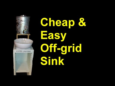 DIY Cheap and Easy Off-grid Camping, or Shop Sink