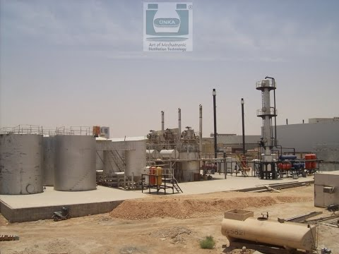 Used Oil Refinery Saudi Arabia Manufactured by Unka Engineering
