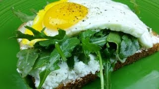 Open Face Egg And Cheese Arugula Sandwich   August Cooking   Mother's Day Recipe   Vegetarian Recipe