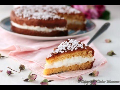 Torta paradiso con crema semplice al latte