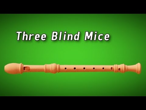 How To Play : Three Blind Mice - Flute