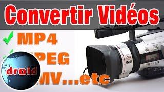 Convertir des fichiers vidéo mp4, wmv, mpeg avec vlc vidéolan gratuit.