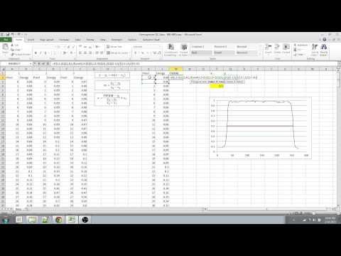Excel - FWHM Through Linear Interpolation