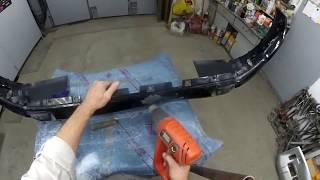 Митцубиси Паджеро обзор предстоящего ремонта, начинаем с бампера