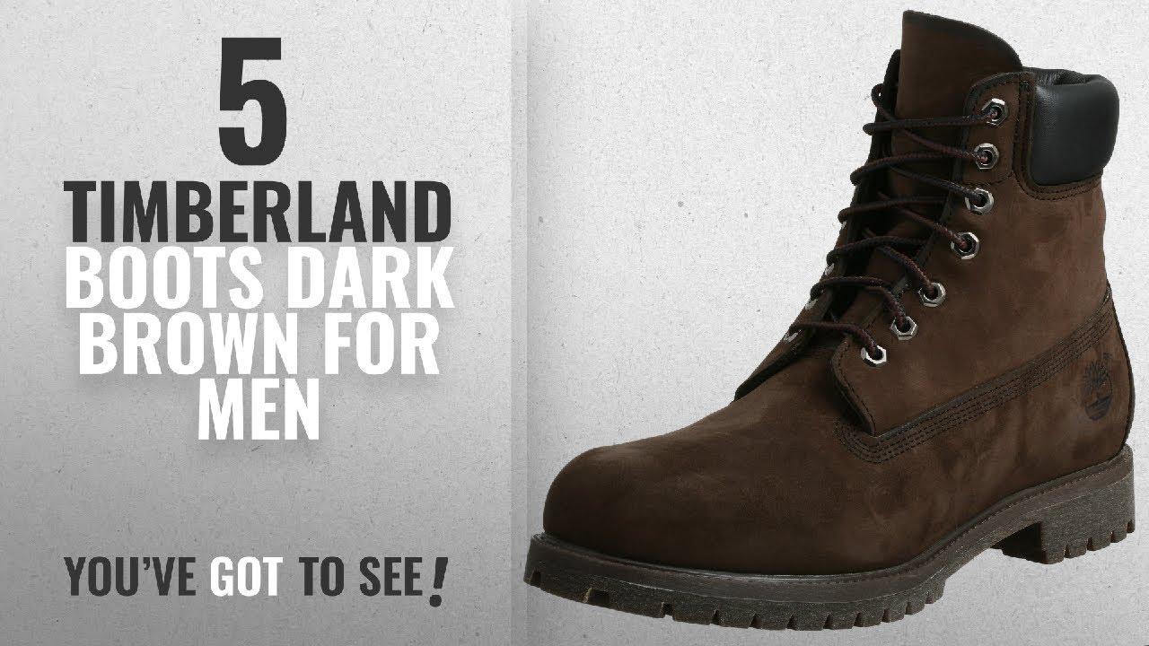 Top 10 Timberland Boots Dark Brown [ Winter 2018 ]: Timberland Men's 6 inch Premium Waterproof Boot,