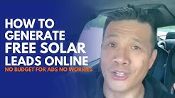 How to generate FREE solar leads online