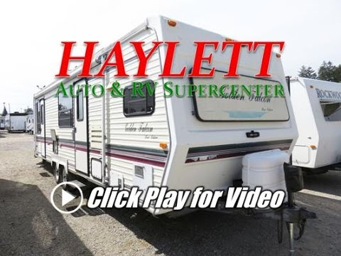 HaylettRV com - 1996 Glendale Golden Falcon 29FKS Used Front Kitchen Rear  Bed Travle Trailer