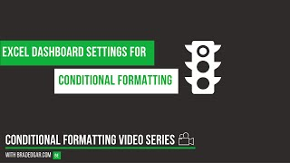 Excel Dashboard Settings for Conditional Formatting and Icon Sets